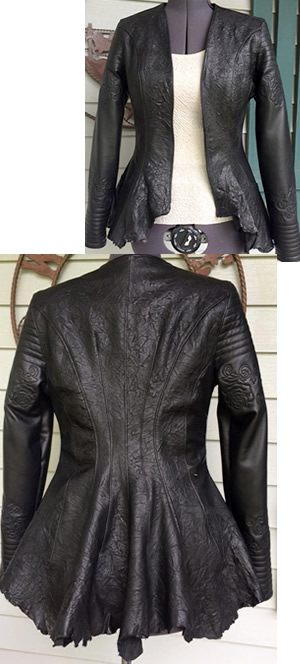 Black Crushed Lamb Jacket