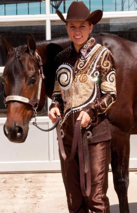 Horsemanship shirt featuring D'Anton Leather appliques