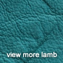 Crushed Turquoise Lambskin Leather